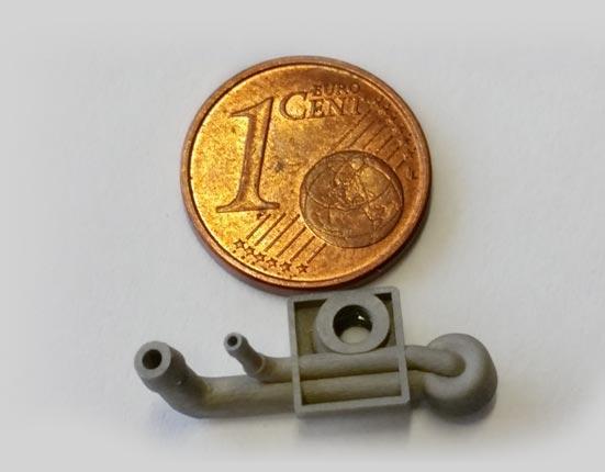 miniaturowy wydruk 3D dysza